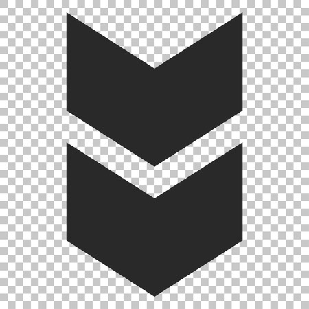shift: Shift Down vector icon. Image style is a flat gray iconic symbol. Illustration