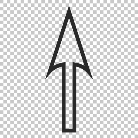 sharp: Sharp Arrow Up vector icon. Image style is a flat gray pictograph symbol.