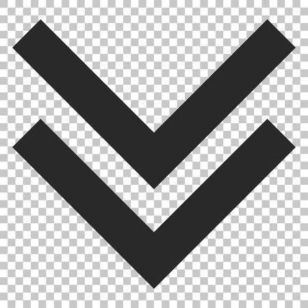 Shift Down vector icon. Image style is a flat gray pictogram symbol.