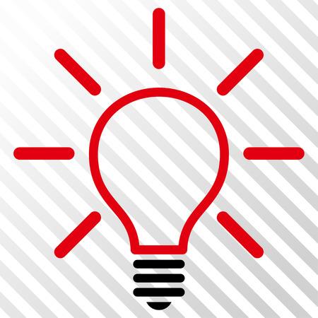 Glühbirne Vektor Icon. Bildstil Ist Ein Flaches Intensives Rotes Und ...