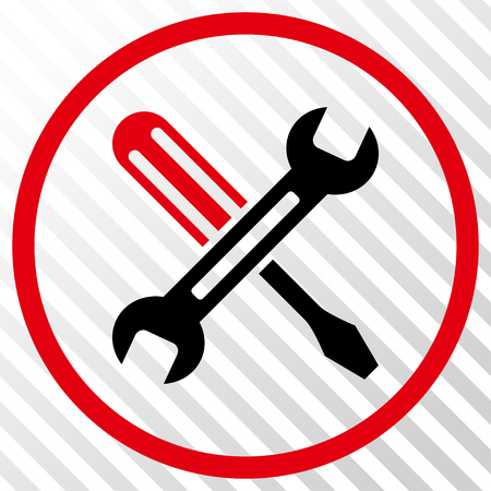 Tuning vector icon. Image style is a flat intensive red and black icon symbol on a hatch diagonal transparent background. Illustration
