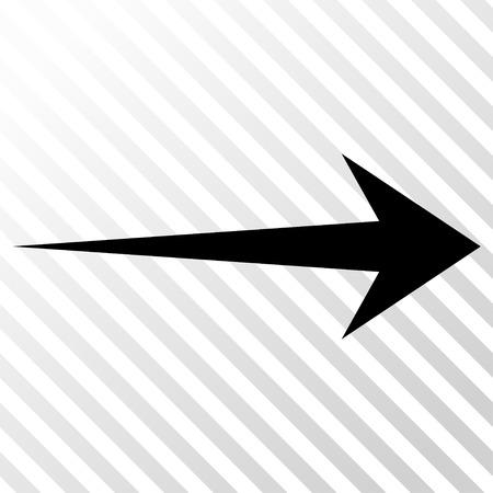 右矢印ベクトル アイコン。画像のスタイルは、ハッチの斜め透明な背景にフラット ブラック アイコン シンボルです。  イラスト・ベクター素材