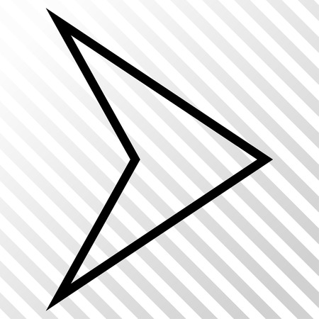 hatch: Arrowhead Right vector icon. Image style is a flat black pictograph symbol on a hatch diagonal transparent background. Illustration