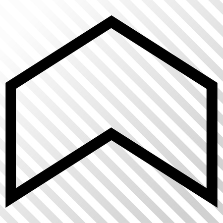 arrowhead: Arrowhead Up vector icon. Image style is a flat black iconic symbol on a hatch diagonal transparent background.