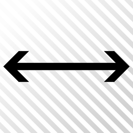hatch: Horizontal Flip vector icon. Image style is a flat black icon symbol on a hatch diagonal transparent background. Illustration