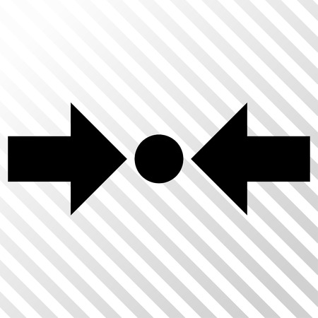 clash: Pressure Horizontal vector icon. Image style is a flat black icon symbol on a hatch diagonal transparent background.