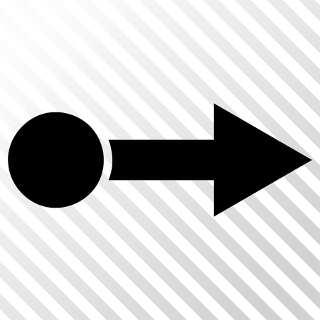 go forward: Pull Right vector icon. Image style is a flat black iconic symbol on a hatch diagonal transparent background. Illustration