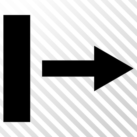 go forward: Pull Right vector icon. Image style is a flat black icon symbol on a hatch diagonal transparent background.