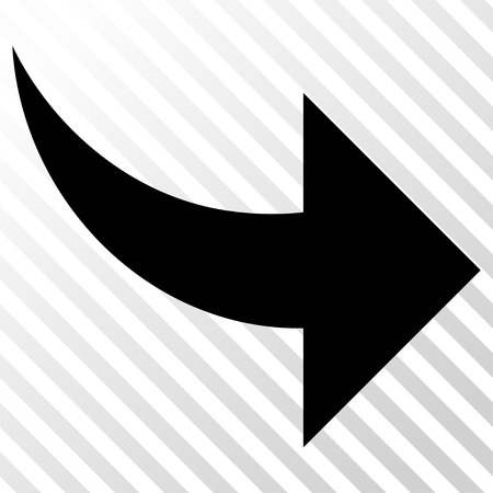 redo: Redo vector icon. Image style is a flat black iconic symbol on a hatch diagonal transparent background.
