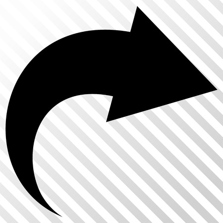 redo: Redo vector icon. Image style is a flat black pictogram symbol on a hatch diagonal transparent background. Illustration