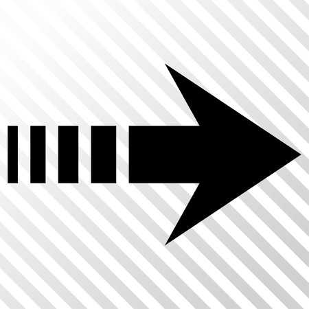 redirect: Send Right vector icon. Image style is a flat black iconic symbol on a hatch diagonal transparent background.