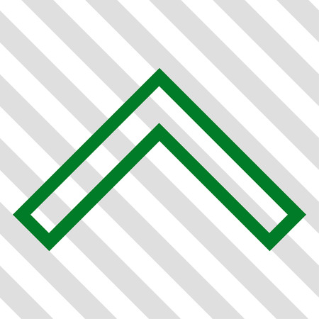 arrowhead: Arrowhead Up vector icon. Image style is a flat green iconic symbol on a hatched diagonal transparent background.