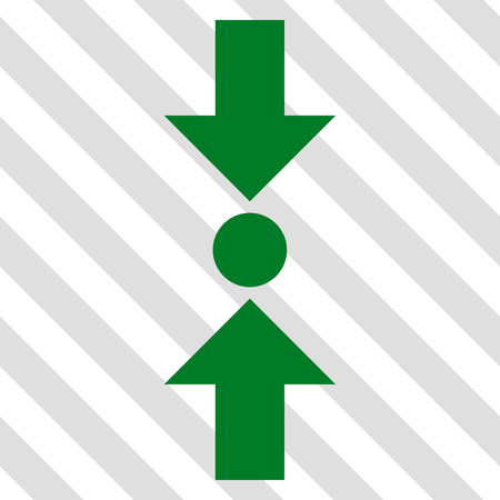 clash: Pressure Vertical vector icon. Image style is a flat green icon symbol on a hatched diagonal transparent background.