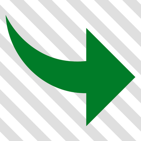 redo: Redo vector icon. Image style is a flat green pictogram symbol on a hatched diagonal transparent background. Illustration