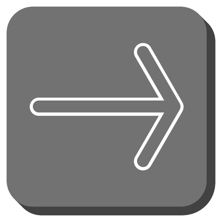 propel: Arrow Right vector icon. Image style is a flat icon symbol in a rounded square button, white and gray colors.