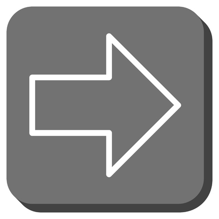 propel: Arrow Right vector icon. Image style is a flat icon symbol inside a rounded square button, white and gray colors.