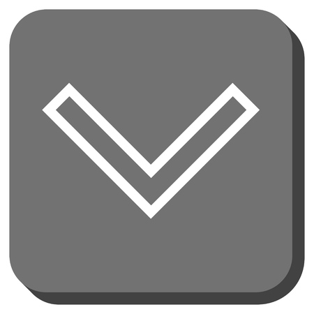 arrowhead: Arrowhead Down vector icon. Image style is a flat icon symbol in a rounded square button, white and gray colors.