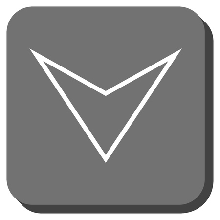 arrowhead: Arrowhead Down vector icon. Image style is a flat icon symbol on a rounded square button, white and gray colors.