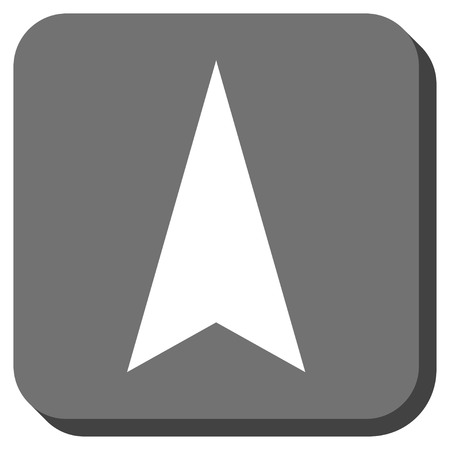 arrowhead: Arrowhead Up vector icon. Image style is a flat icon symbol in a rounded square button, white and gray colors.