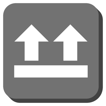 bring: Bring Up vector icon. Image style is a flat icon symbol in a rounded square button, white and gray colors.