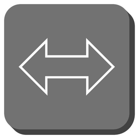 inverse: Exchange Horizontal vector icon. Image style is a flat icon symbol inside a rounded square button, white and gray colors. Illustration