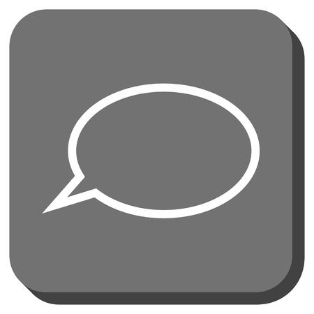 hint: Hint Cloud vector icon. Image style is a flat icon symbol in a rounded square button, white and gray colors.