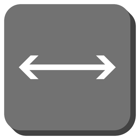 inverse: Horizontal Flip vector icon. Image style is a flat icon symbol inside a rounded square button, white and gray colors. Illustration