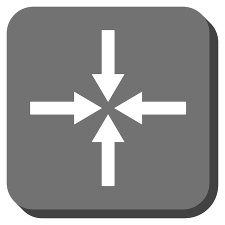 impact: Impact Arrows vector icon. Image style is a flat icon symbol on a rounded square button, white and gray colors.