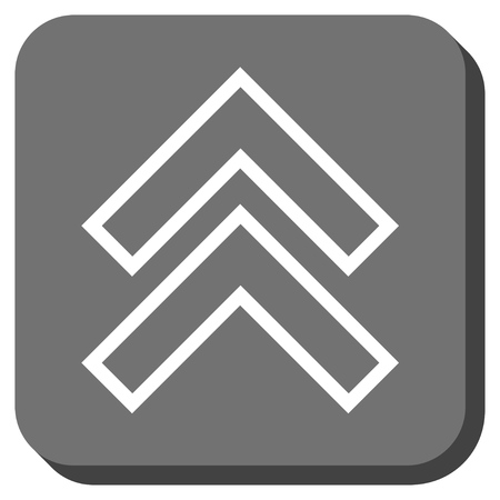 shift: Shift Up vector icon. Image style is a flat icon symbol on a rounded square button, white and gray colors. Illustration