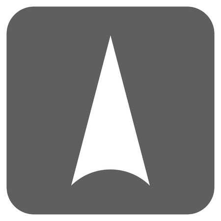 arrowhead: Arrowhead Up vector icon. Image style is a flat icon symbol in a rounded square button, white and silver gray colors. Illustration