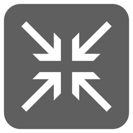 collide: Collide Arrows vector icon. Image style is a flat icon symbol inside a rounded square button, white and silver gray colors.