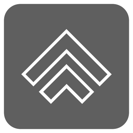 upward movements: Direction Up vector icon. Image style is a flat icon symbol inside a rounded square button, white and silver gray colors.
