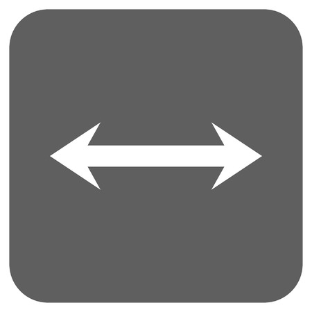 inverse: Horizontal Flip vector icon. Image style is a flat icon symbol inside a rounded square button, white and silver gray colors.