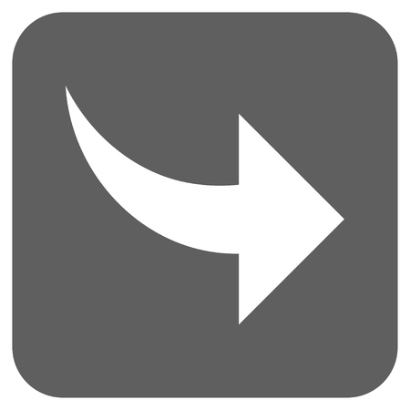 redo: Redo vector icon. Image style is a flat icon symbol in a rounded square button, white and silver gray colors. Illustration