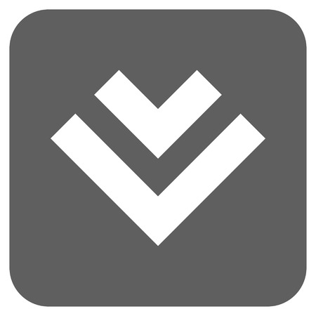 shift: Shift Down vector icon. Image style is a flat icon symbol in a rounded square button, white and silver gray colors.