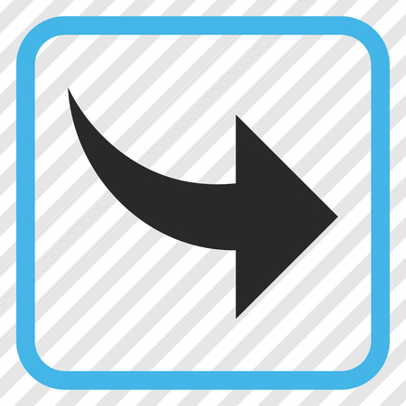 redo: Redo blue and gray vector icon. Image style is a flat iconic symbol in a rounded square frame on a transparent diagonally hatched background.
