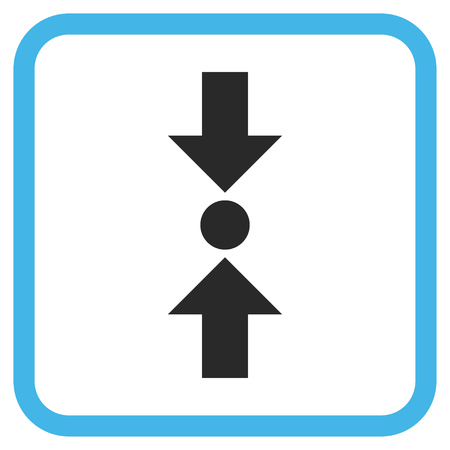 clash: Pressure Vertical blue and gray vector icon. Image style is a flat pictograph symbol in a rounded square frame on a white background.