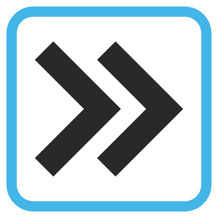 shift: Shift Right blue and gray vector icon. Image style is a flat iconic symbol in a rounded square frame on a white background.