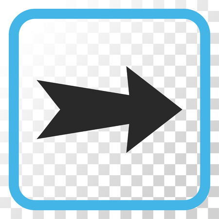propel: Arrow Right blue and gray vector icon. Image style is a flat pictograph symbol in a rounded square frame on a transparent background.