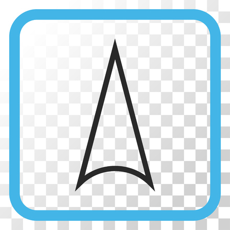 Arrowhead Up blue and gray vector icon. Image style is a flat icon symbol in a rounded square frame on a transparent background.