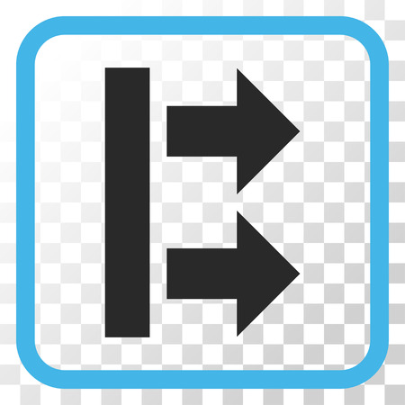 bring: Bring Right blue and gray vector icon. Image style is a flat pictogram symbol in a rounded square frame on a transparent background. Illustration