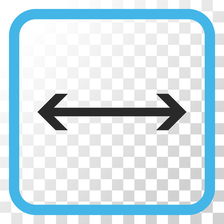 Horizontal Flip blue and gray vector icon. Image style is a flat iconic symbol inside a rounded square frame on a transparent background. Illustration