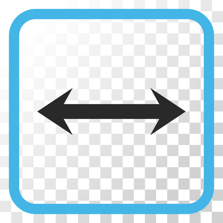 Horizontal Flip blue and gray vector icon. Image style is a flat iconic symbol in a rounded square frame on a transparent background.