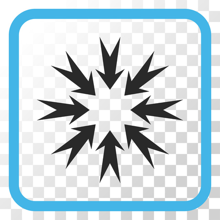 Pressure Arrows blue and gray vector icon. Image style is a flat iconic symbol inside a rounded square frame on a transparent background. Illustration