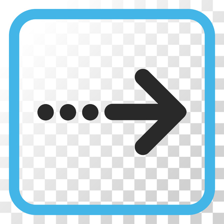 blue send: Send Right blue and gray vector icon. Image style is a flat pictogram symbol inside a rounded square frame on a transparent background.