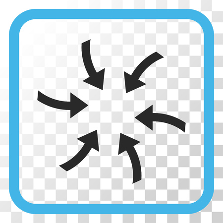 Twirl Arrows blue and gray vector icon. Image style is a flat iconic symbol in a rounded square frame on a transparent background.