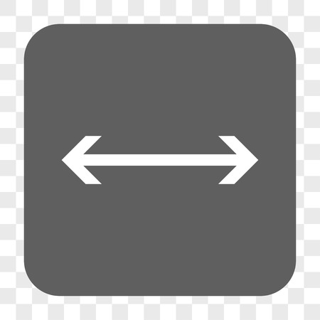 inverse: Horizontal Flip interface toolbar button. Vector icon style is a flat symbol in a rounded square button, white and gray colors, chess transparent background.