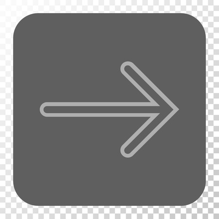 redirect: Arrow Right toolbar button. Vector pictograph style is a flat symbol in a rounded square button, light gray and gray colors, chess transparent background.