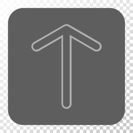 Arrow Up interface toolbar icon. Vector pictograph style is a flat symbol on a rounded square button, light gray and gray colors, chess transparent background. Illustration