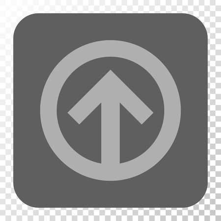 upward movements: Direction Up interface toolbar icon. Vector pictograph style is a flat symbol on a rounded square button, light gray and gray colors, chess transparent background.